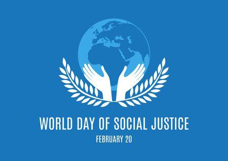 Vector Illustration Keywords: Vector Illustration Keywords: Silhouette of a laurel. Day of Social Justice Poster