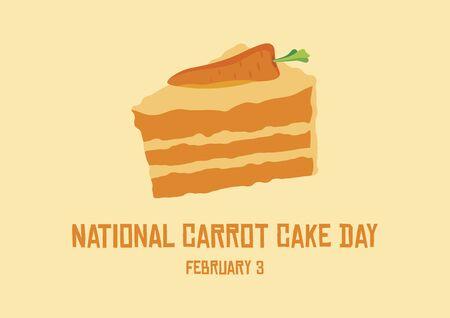 National Carrot Cake Vector. Vector Illustration Keywords: Carrot cake icon. Carrot Cake Day Poster
