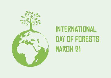 Vector Illustration Keywords: Vector Illustration Keywords: Vector Illustration Keywords: Day of Forests Poster Çizim