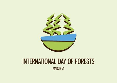 Vector Illustration Keywords: Vector Illustration Keywords: Conifer abstract icon. Day of Forests Poster