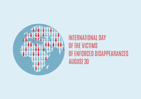 International Day of the Victims of Enforced Disappearances vector. Disappeared people vector. Missing person icon. Lost people silhouettes vector. Enforced Disappearances Poster, August 30