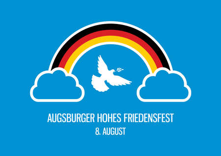 Peace Festival in Augsburg vector.  イラスト・ベクター素材