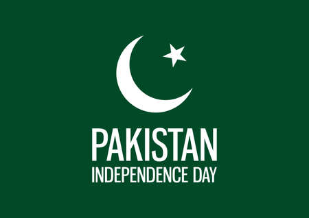 Pakistan Independence Day vector. Pakistan flag vector. National holiday in Pakistan. Important day  イラスト・ベクター素材