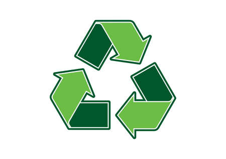 Green arrows recycling symbol icon vector. Recycle symbol icon isolated on a white background. Environment icon vector