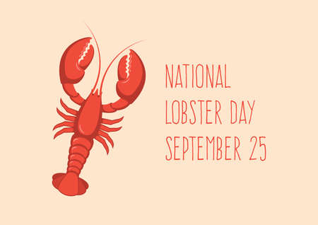 National Lobster Day vector. Red lobster icon vector. Favorite seafood vector. Lobster Day Poster, September 25