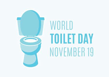 World Toilet Day vector. Flush toilet icon vector. Toilet Day Poster, November 19. Important day Иллюстрация