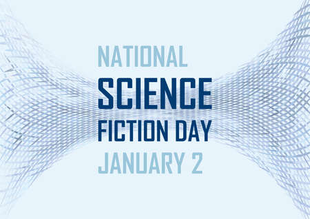 National Science Fiction Day vector. Blue abstract vector background. Science Fiction Day Poster, January 2. Important day