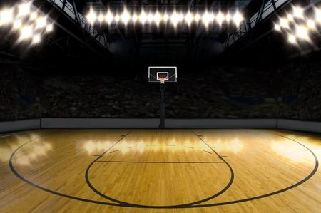 baloncesto: Cancha de basketball.