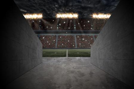 축구 경기장 터널입니다. 스톡 콘텐츠 - 50885877