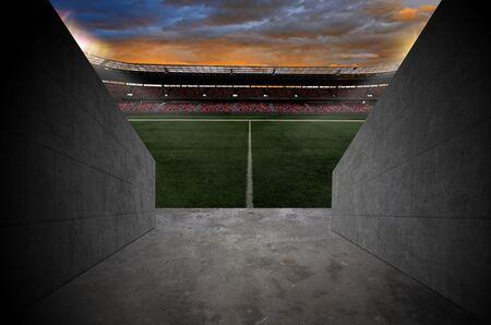 Tunnel to a Soccer Stadium. Standard-Bild