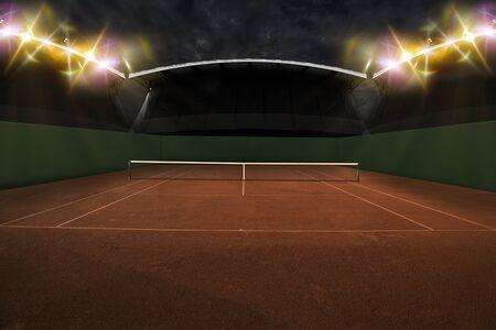 Tennis Court Stadium. Standard-Bild
