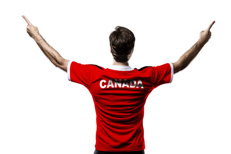 Canadian Athlete on a white Background.