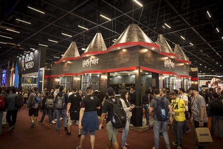 SAO PAULO - DECEMBER 1, 2016: Harry Potter booth in Sao Paulo Comic Con Experience, the annual pop culture and fandom convention in Brazil. Editorial