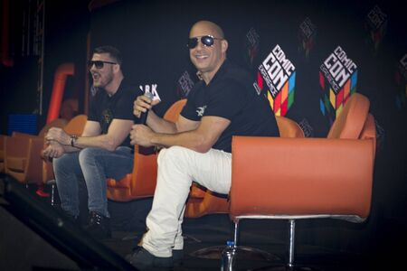 SAO PAULO - DECEMBER 1, 2016: Vin Diesel in a  panel at Comic Con Experience. Editorial