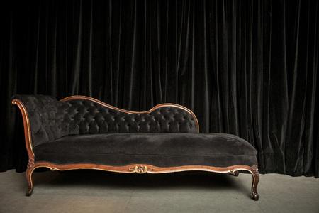 vintage sofa in a vintage room