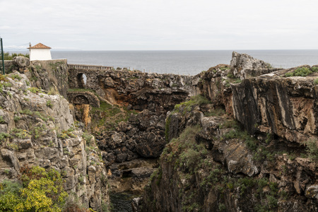 Devils Throat, Garganta do diabo, rock formation in Cascais, Portugal