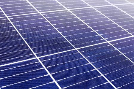 Solar panels texture. Solar energy power. Sun electricity technology. Stock photo solar panels. Close up background. Alternative energy ecological concept. Banco de Imagens - 160536832
