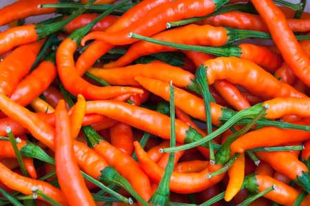 chiles picantes: ají de color naranja