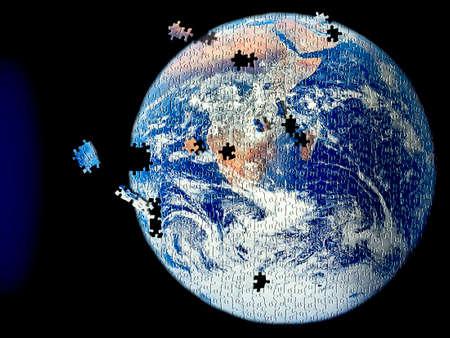 Earth puzzle photo