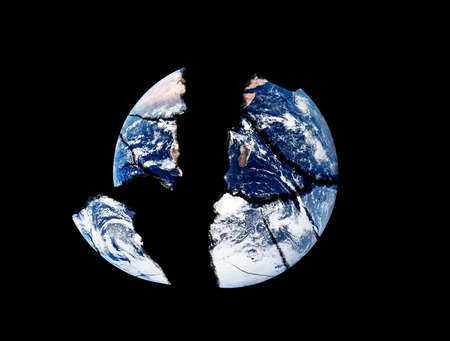 The earth cracked in large pieces photo