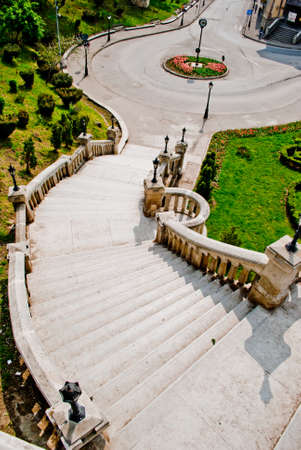 Percorso urbano nel centro di Iasi, Romania.