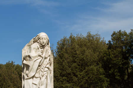 Statue of Saint Catherine of Siena in the gardens of Castel SantAngelo in Rome (by Francesco Messina)