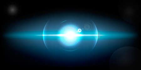 bright light, star, object