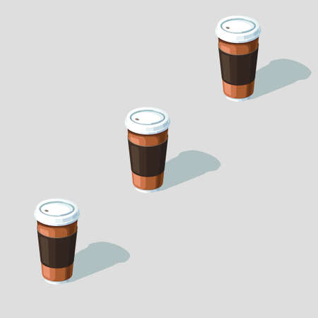 coffee cups: 3d, isometric, background, coffee, cups