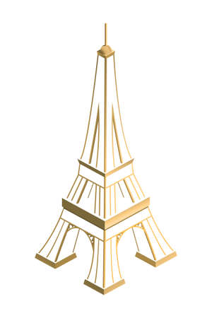 Eiffel Tower, gold, background, Illustration