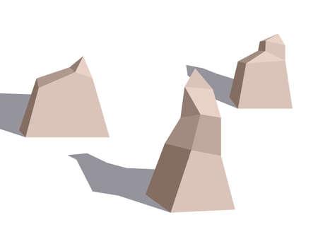 rock stone: stone, rock, vector, boulder