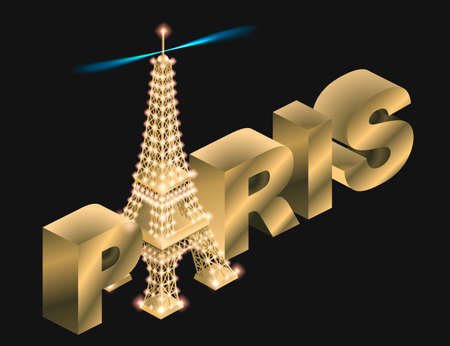 metal letters: 3d, architecture, art, background, beautiful, building, capital, city, color, colorful, design, eiffel, europe, famous, france, french, gold, graphic, illustration, inscription, iron, isolated, isometric, letters, light, metal, metallic, modern, monument,