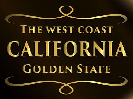 the west coast california golden state slogan creative design