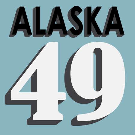 alaska: printing T-Shirt Fort Drum, Alaska.  vector illustrations Illustration