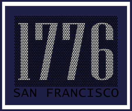 Vintage San Francisco California Varsity  T-shirt