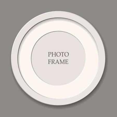 Round white frame, passepartout, vector image