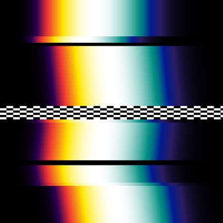 Signaalfout in de donkere digitale ruimte. Abstracte achtergrond illustratie.