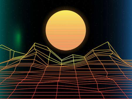 synth pop, retro, falla, elegante, moda, años 80 Ilustración de vector
