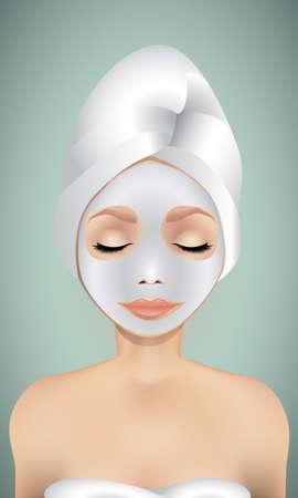 vector illustration, 3d girls mask Ilustracje wektorowe