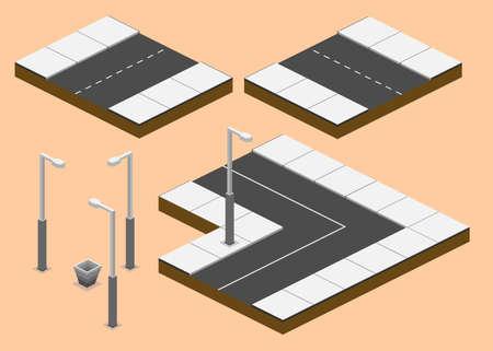 3d, isometric, road