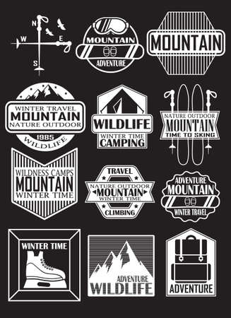 emblems for design. the mountains Illustration