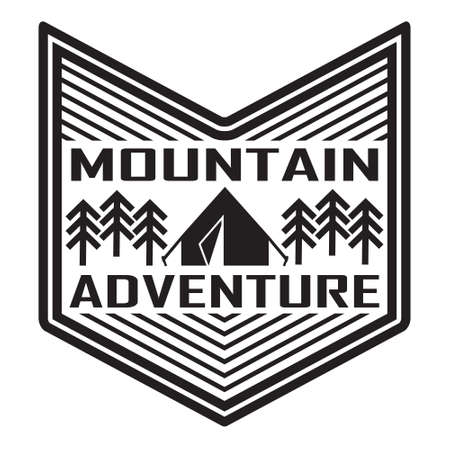 emblem for design. camping