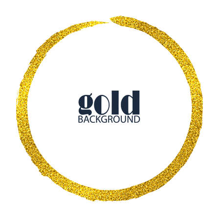 golden circle frame. background for cover, golden effect