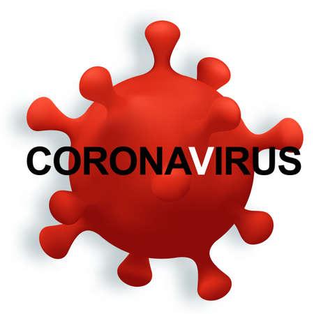 Coronavirus 2019-nCoV. Coronavirus denoted 2019-nCoV Floating flu virus, cancer cells. Vector illustration. isolated element
