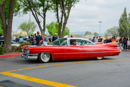Woodland Hills, CA - Abril 5, 2015: Cadillac Eldorado classic car on display at the Supercar Sunday Pre-1973 Muscle car event. Editorial