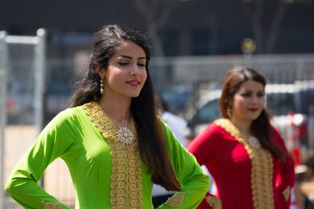 babylonian: Los Angeles, California, USA - March 21, 2015 -  Persian dancers performing at the Norooz Festival and Persian Parade new year celebration. Editorial