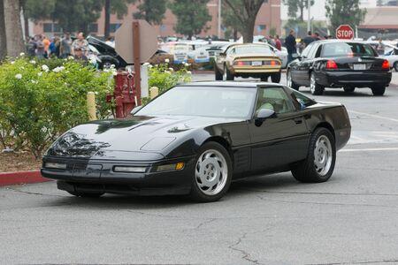 Woodland Hills, CA, USA - July 5, 2015: Chevrolet Corvette car on display at the Supercar Sunday car event. Editöryel