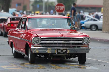Woodland Hills, CA, USA - July 5, 2015: Chevrolet Nova car on display at the Supercar Sunday car event.