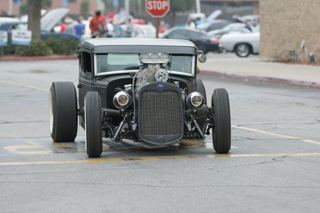 Woodland Hills, CA, USA - July 5, 2015: Hot Rod car on display at the Supercar Sunday car event. Editöryel