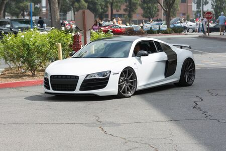 Woodland Hills, CA, USA - July 5, 2015: Audi R8 car on display at the Supercar Sunday car event. Editorial