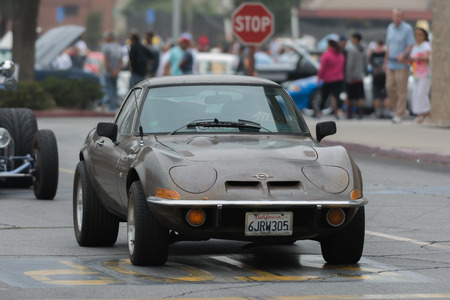 Woodland Hills, CA, USA - July 5, 2015: Opel GT car on display at the Supercar Sunday car event.